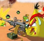 Angry birds shooting pigs